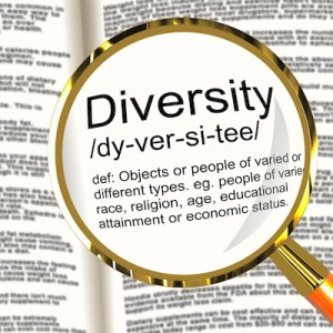 Diversity Definition Magnifier Showing Different Diverse And Mixed Race
